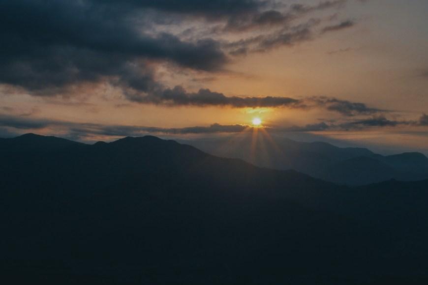 Amanecer visto des del Sarangkot en Nepal