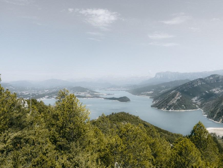 Embalse Mediano visto des del Castillo de Samitier en Huesca