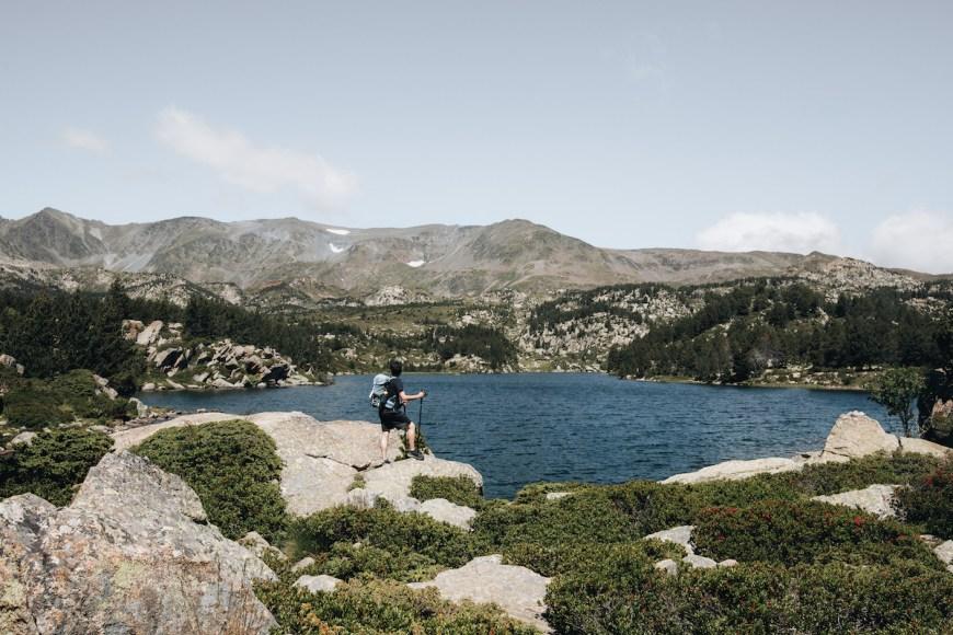 Alex en el Lac de la Coumasse de Les Bouillouses, Francia