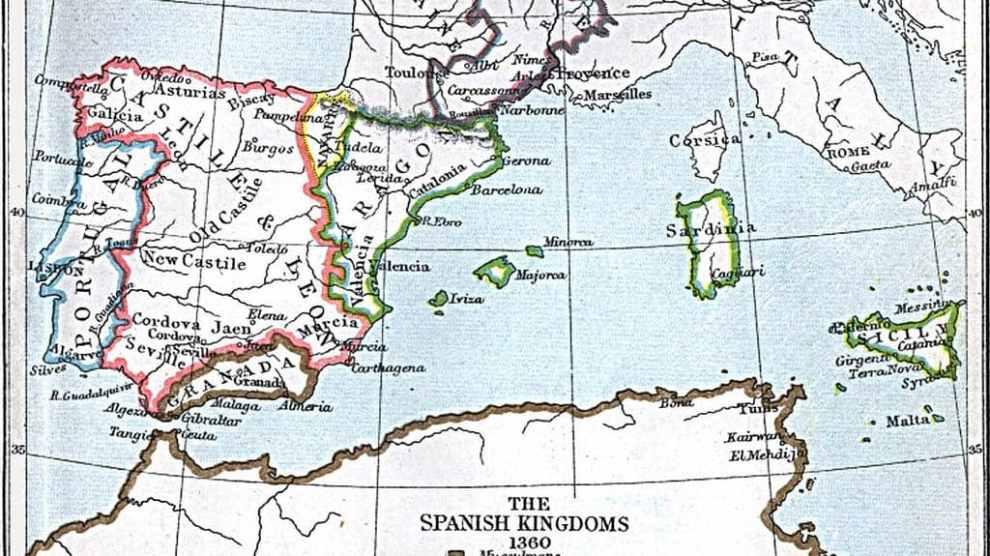 Reinos en la Península Ibérica (1360)