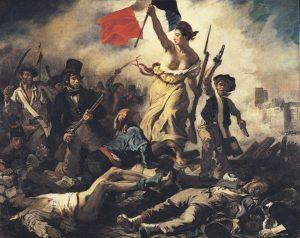 La Libertad guiando al pueblo, de Delacroix (1830)