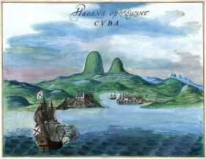 Óleo del puerto de La Habana, de 1639