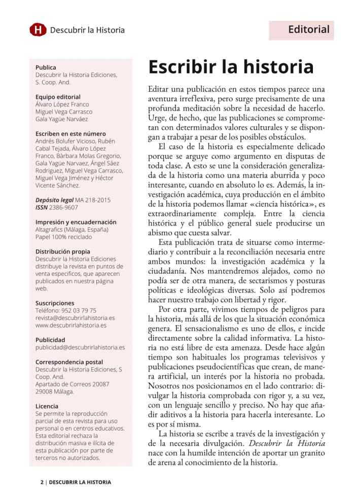 Editorial número 1
