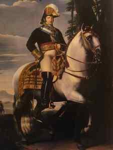 Retrato de Fernando VII a caballo