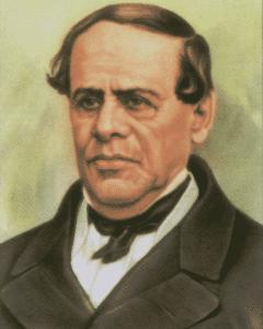 Antonio López de Santa Anna, presidente mexicano, posteriormente nombrado dictador vitalicio.