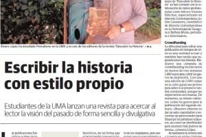 'Escribir la historia con estilo propio', en Crónica Universitaria el19-05-2015