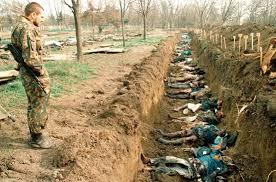 Fosa común encontrada en Chechenia.
