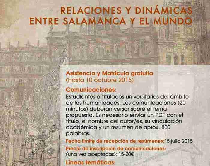 Cartel II Jornadas de Historia de Salamanca.