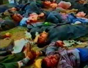 Matanza de Zarskaya (1992) realizada por tropas georgianas contra población Abjasia.