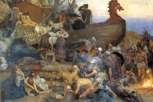 Funeral de un noble rus', pintura de Henryk Siemiradzki (1843-1902) (Wikimedia).