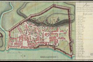 Plano de Algeciras mandado a levantar por Jorge Próspero de Verboom | Archivo General de Simancas.