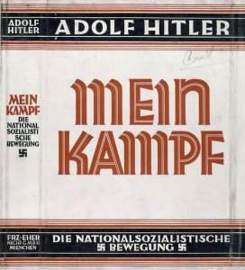 Portada del Mein Kampf (Mi Lucha) de Hitler.