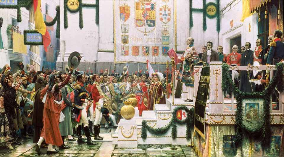 Promulgación de la Constitución de 1812. Salvador Viniegra. 1912. Museo de las Cortes de Cádiz