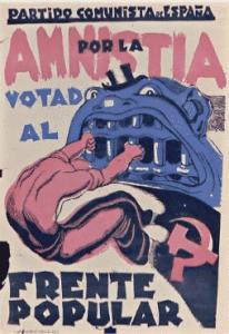 Cartel de propaganda del Frente Popular (Wikimedia).
