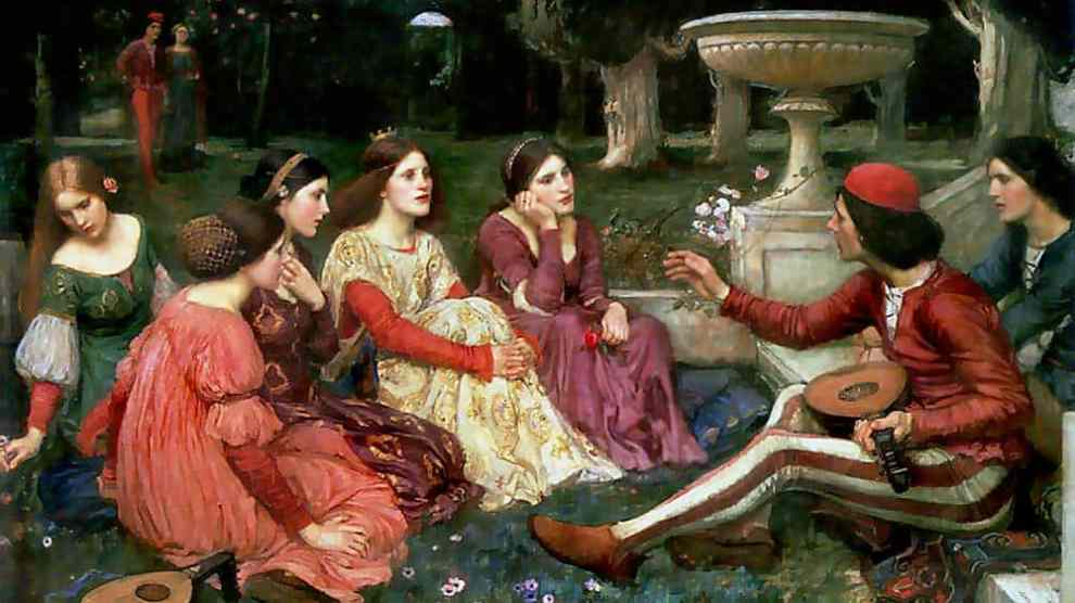 John William Waterhouse, A Tale from the Decameron. Wikimedia Commons / Lady Lever Art Gallery