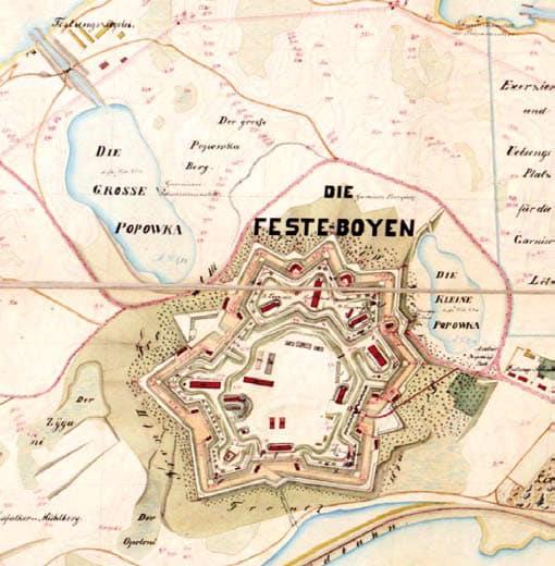 Fortaleza Boyen alrededor de 1890.