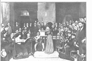 Concierto en el Círculo de Bellas Artes de Madrid en mayo de 1909.