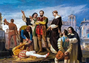 Ejecución de los comuneros de Castilla, de Antonio Gisbert (1860). Palacio de las Cortes (Wikimedia).