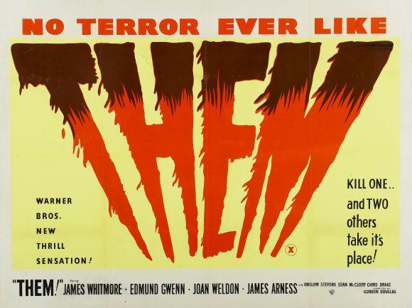 Poster do filme de terror Them! (O Mundo em Perigo – 1954)