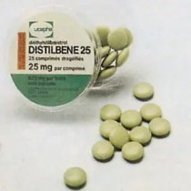 Distilbène 25 mg DES Drug Bottle manufactured by Ucepha on Flickr