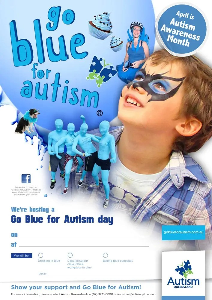 Poster of Go Blue for Autism