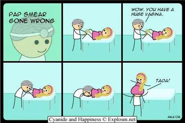 PAP-Smear-gone-wrong cartoon