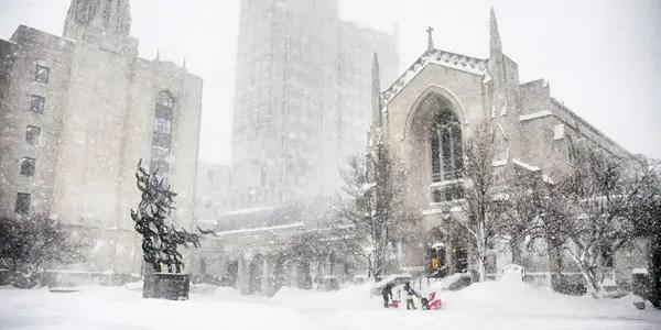Boston-University in the snow image