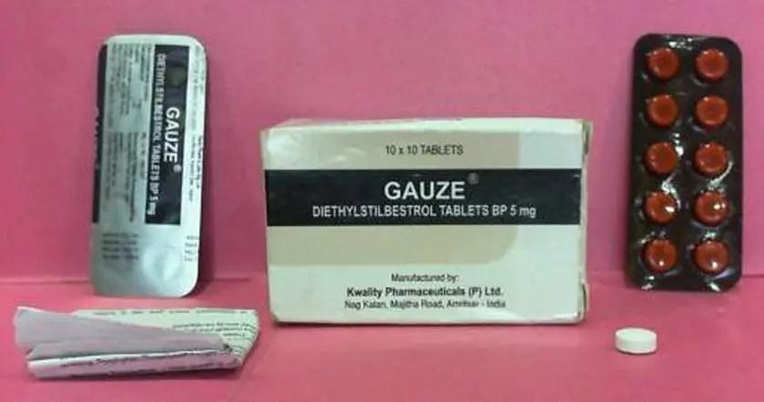 image of gauze-diethylstilbestrol