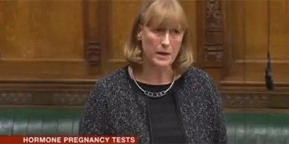 Hormone Pregnancy Tests in the UK : Joan Ryan MP Talks