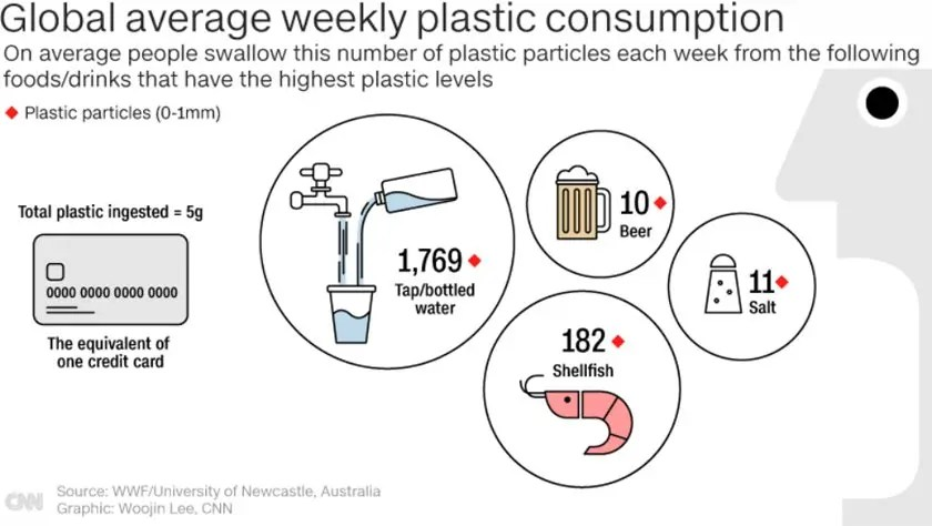 Human Consumption of Microplastics