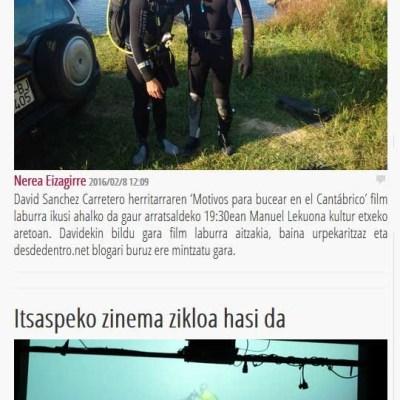 Portada Periódico Txintxarri (09/02/2016)