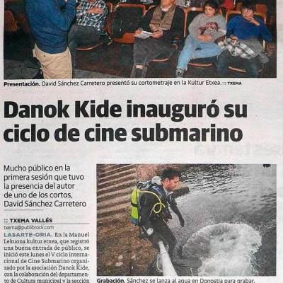 Noticia Periódico Diario Vasco (10/02/2016)