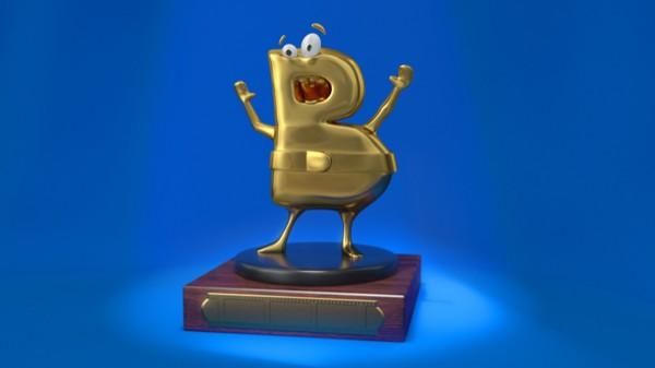 Blogui, la mascota y galardón de los Premios Blogos de Oro.