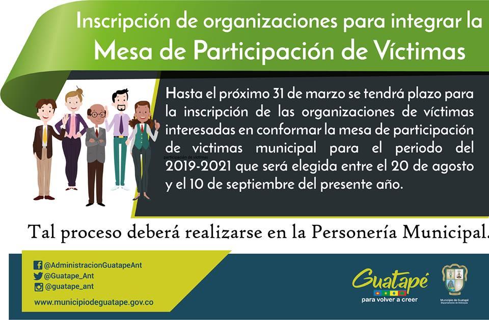 Mesa de Participación de Victimas de Guatapé