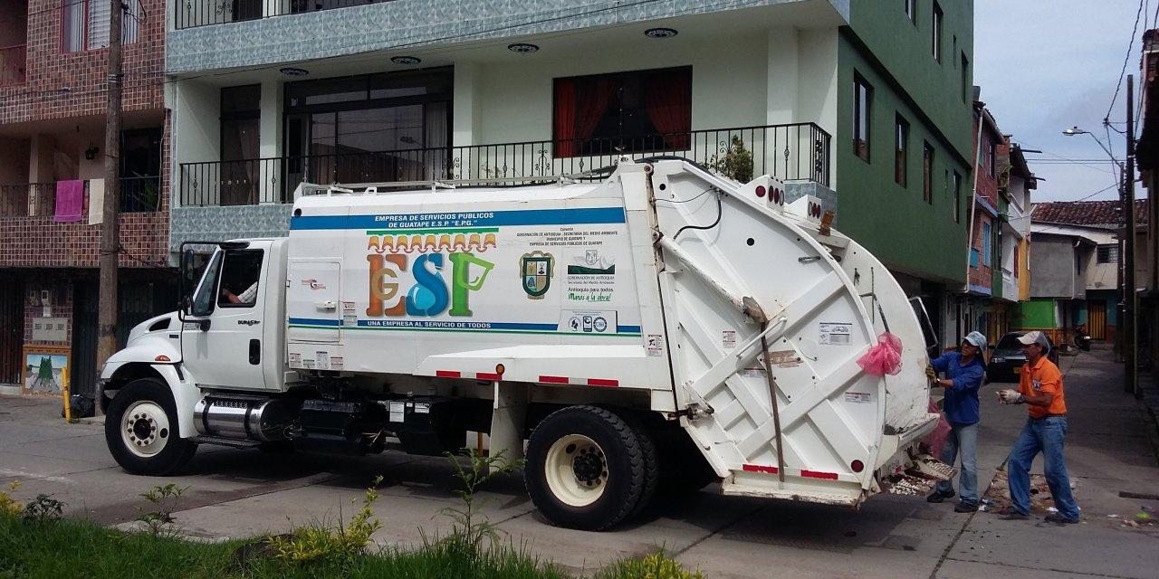 ¡Atención! Así estará la recolección de residuos sólidos en Guatapé en semana santa