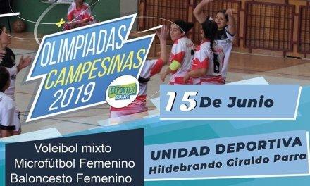 El sábado 15 de junio iniciara las olimpiadas campesinas.