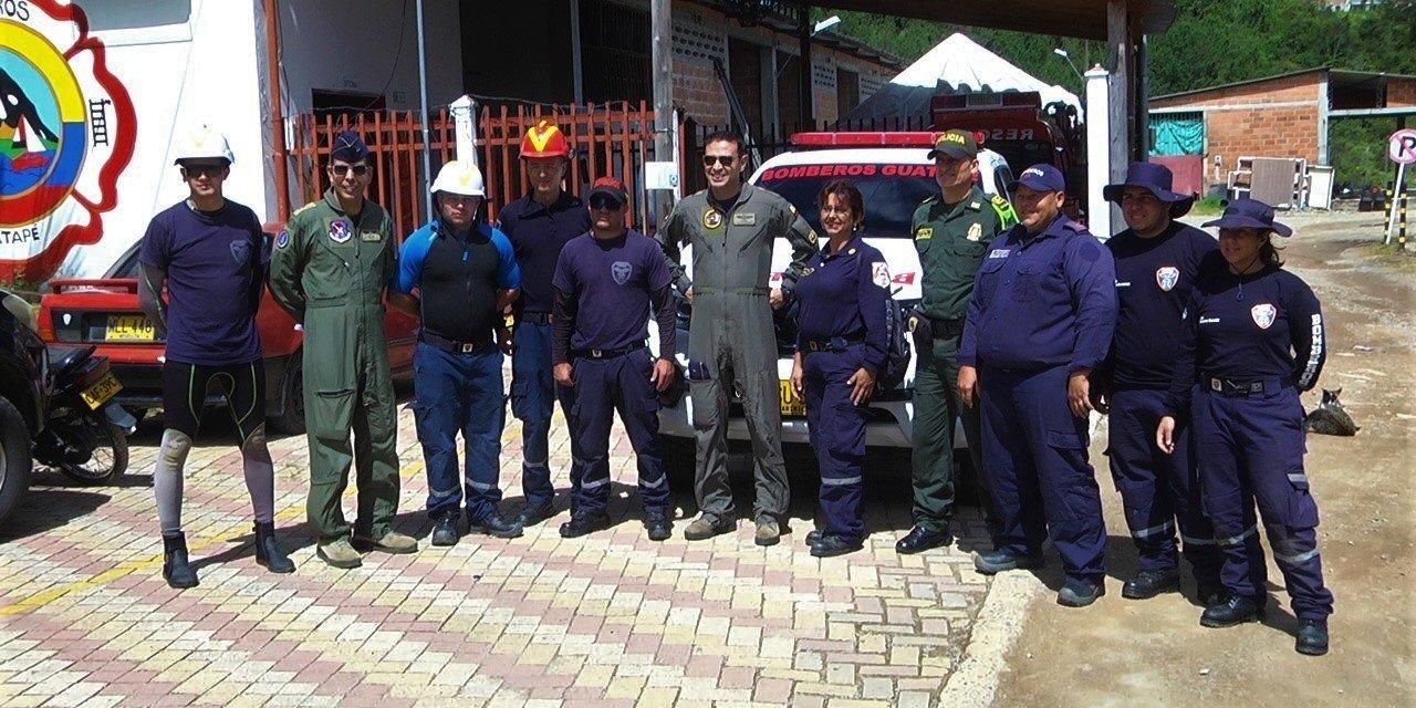 Simulacro en el embalse Peñol – Guatapé previo a la feria aeronáutica