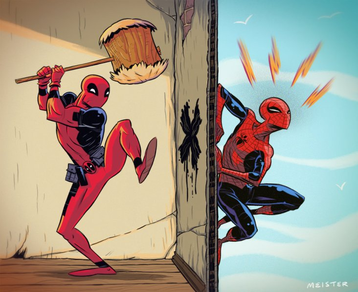 spidey_v_deadpool_by_meistermash-d6ll6fk