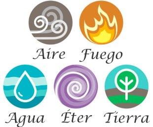 Los cinco  Mahabhuta o elementos que manifiesta Tripura Sundari