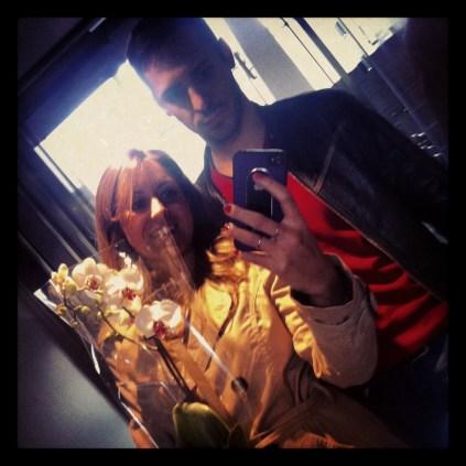 Nosotros con la orquídea