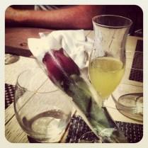 Rosa y limoncello como fin de cena