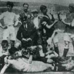 Pancho Cossío en uno de los primeros partidos celebrados en los Campos de Sport