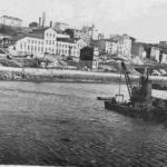 1890:draga de Priestman & Son en la Dársena de Molnedo