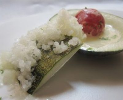 Tapa de melón con jamón de Baluarte
