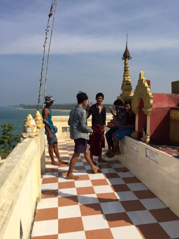 Cool dudes with longyi