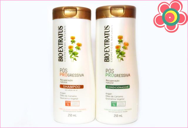 Testei Bio Extratus Pos Progressiva Shampoo E Condicionador