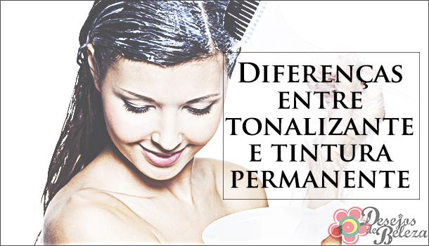 Diferenças entre tonalizante e tintura permanente