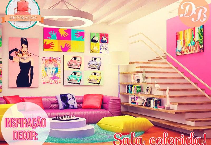 Inspiração Decor: Sala Colorida!