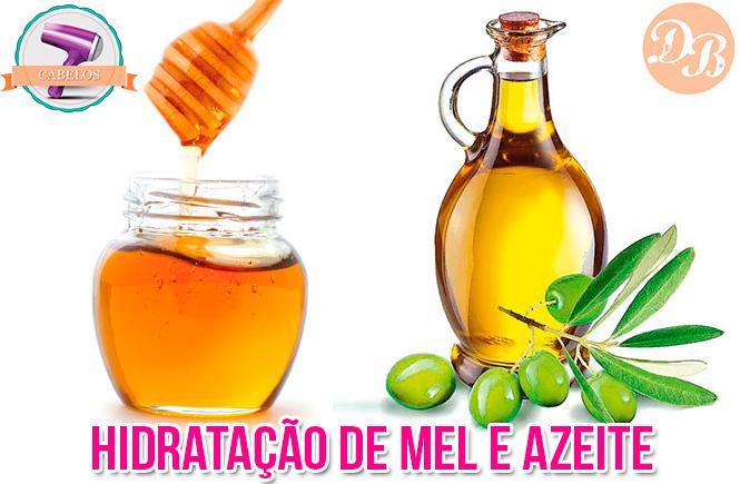 Hidratação com mel e azeite