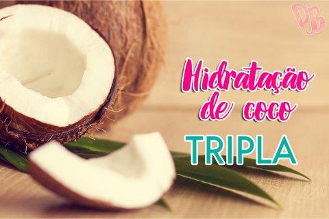 Hidratação de coco tripla